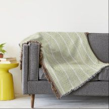 "'Traditional Designs""_Cream_White Stripes"" Throw Blanket"