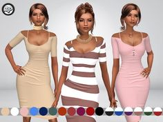 MP Nathalia's Dress at BTB Sims – MartyP via Sims 4 Updates