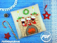 The Christmas fireplace PDF Quiet Book Felt Busy Book