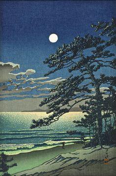 Spring Moon, Coast at Ninomiya | LACMA Collections