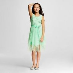 Girls' Mint Tulle Occasion Dress - Cherokee™