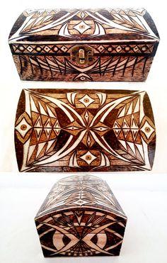 Large jewelry box - Mirrors - pyrography by Jimi