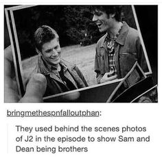 This is too cute. Sam & Dean Winchester are adorbs, Jensen & Jared even more so.