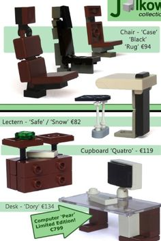 Lego chair and desk ideas
