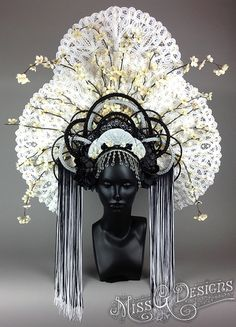 Awaken your inner Goddess with Miss G Design& handmade headdress collection. Estilo Tribal, Costume Venitien, Diy Masque, Floral Headdress, Head Jewelry, Jewellery, Cool Costumes, Fairy Costumes, Tiaras And Crowns