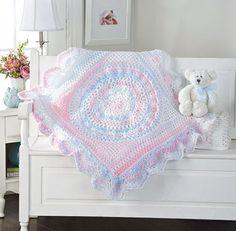 Ravelry: Baby Delight Blanket pattern by Mary Maxim Crochet Baby Blanket Beginner, Crochet Blanket Patterns, Baby Knitting, Crochet Blankets, Crochet Afghans, Knitting Patterns, Crochet Bebe, Love Crochet, Knit Crochet