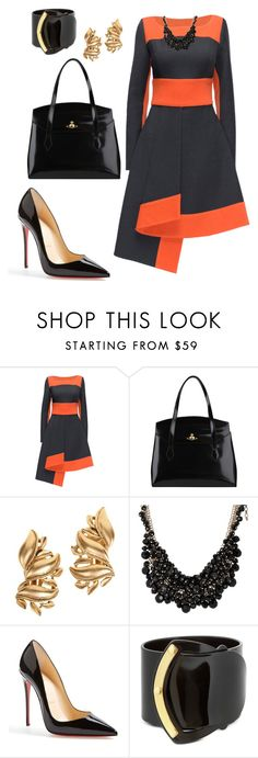 helia's style theory by heliaamado on Polyvore featuring Lattori, Christian Louboutin, Vivienne Westwood, Pluma, Oscar de la Renta and sweet deluxe