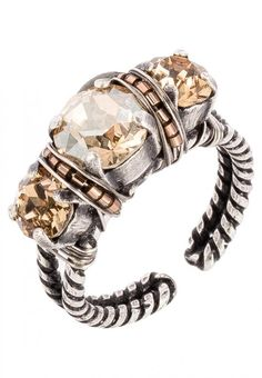 Konplott BYZANTINE - Ring - beige/antiksilberfarben