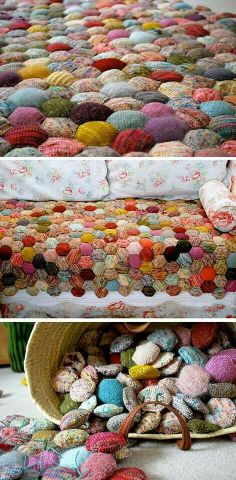 """""""beekeeper's quilt"""" with knitted patchwork"""