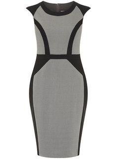 Grey textured pencil dress -- Dorothy Perkins (great work / professional wear)
