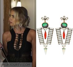 """Pretty Little Liars: Season 7 Episode 12 Hanna's Gem Earrings 