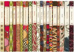 Penguin poets designed by Stephen Russ in the 1960s.