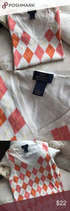 """Brooks Brothers """"346"""" Supima Cotton Argyle Vest Classic & preppy Brooks Brothers supima cotton sweater vest💕 Orange & pink argyle add the perfect feminine touch. So soft, amazing quality, 100% cotton. Gently used condition, smoke-free home, no stains or tears. Brooks Brothers Sweaters"""