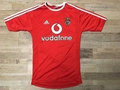 Benfica Lisbonne SLB Adidas Red Espirito Santo vodafone jersey Size S  9af57b3ed4e58
