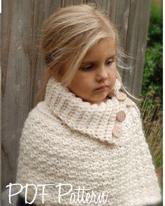 Crochet PATTERNThe Finleigh Cape 12/18 months by Thevelvetacorn, $5.50