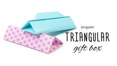 Origami Long Triangular Gift Box Tutorial  DIY  Paper Kawaii #origami #paperkawaii