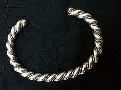 "Sterling Silver Cuff Bracelet - 6 1/4"", Bangle, Georg Jensen?? - http://designerjewelrygalleria.com/georg-jensen/sterling-silver-cuff-bracelet-6-14-bangle-georg-jensen/"