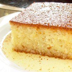 Greek Ravani - Syrup Cake Dessert Greek Sweets, Greek Desserts, Greek Recipes, Sweets Cake, Cupcake Cakes, Sweets Recipes, Wine Recipes, Greek Cake, Cyprus Food