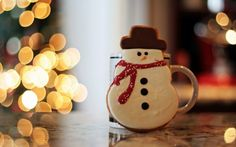 Gingerbread christmas lights snowman 2560×1600.