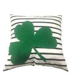 """Patricks Day Decorative Cushion Cover Spring Green Leaves Decor18/""""X18/"""" Happy St"""