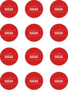 Photo by Kimberly Holland Canning Salsa, Canning Labels, Jar Labels, Homemade Salsa, Homemade Gifts, Diy Gifts, Mason Jar Meals, Mason Jars, Printable Labels