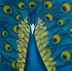 Peacock - mixed media on canvas (sold)