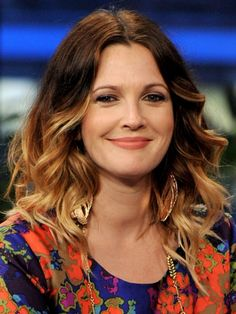 Quite possibly the originator of the ombre hair trend in Hollywood, Drew Barrymore colors her hair into a high-drama style that via @AOL_Lifestyle Read more: https://www.aol.com/view/get-inspired-15-celebs-ombre-hair/?a_dgi=aolshare_pinterest#fullscreen