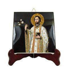 St Francis Xavier  catholic saints serie religious icon on