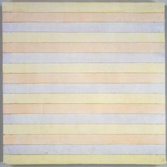 """in pursuit of perfection""""… reclusive artist Agnes Martin's sparse abstract works are now showing at the Tate Modern Minimalist Painting, Minimalist Art, Songs Of Innocence, Agnes Martin, Barnett Newman, Abstract Words, Abstract Art, Action Painting, Painting Art"""