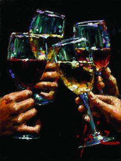 Cheers!.....Wine Art  - Fabian Perez - Santé !
