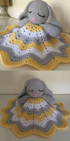 Crochet blanket patterns free 321725967131598042 - Bunny Lovey Toy Free Crochet Pattern Source by cassiopeebarois Crochet Baby Toys, Crochet Patterns Amigurumi, Crochet Blanket Patterns, Baby Blanket Crochet, Crochet Dolls, Baby Knitting, Lovey Blanket, Bunny Crochet, Crochet Lovey Free Pattern