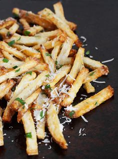 Garlic Aioli and Parmesan Fries - via Seasons and Suppers
