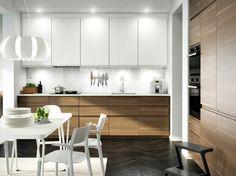 Arredare Cucina Legno Lampadario Sospensione Legno Tavolo Bianco