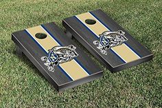 Naval Academy Midshipmen Cornhole Game Set Onyx Stained Stripe Version *** Details can be found by clicking on the image.
