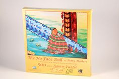 THE NO FACE DOLL Mary Masters Signed 500 Pc. Puzzle Native Indian SW by Sunsout #SunsOut