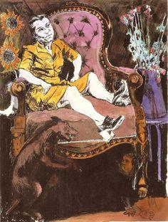 Paula Rego | Girl on a large armchair