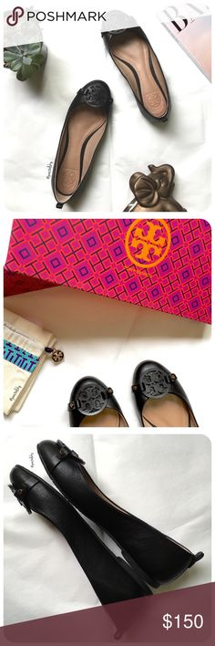 Spotted while shopping on Poshmark: authentic TORY BURCH mini miller flats! #poshmark #fashion #shopping #style #Tory Burch #Shoes