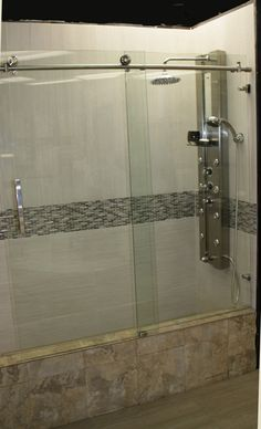 Mirage A Completely Frameless Sliding Tub Door The