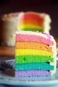 Crumbs and Cookies.: rainbow cake.