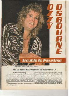 Band Problems, Prince Of Darkness, Ozzy Osbourne, Movie Posters, Movies, Films, Film Poster, Cinema, Film