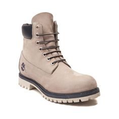 Shop for Mens Timberland 6 Classic Boot, Light Gray, at Journeys Shoes. The original Timberland boot, first designed nearly forty years ago and a staple in millions of closets, mudrooms and garages around the globe. Timberland has been selling this classic style for nearly 40 years and made some improvements along the way, such as the addition of its exclusive anti-fatigue comfort technology, but its six-inch boots remain just as sturdy and dependable as always.