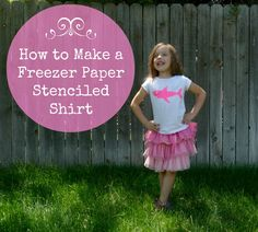 You've heard about it.... you've seen 'em, BUT, have you found the place to do it?? Stenciling using Freezer Paper!!! Check out this tutorial on..... How to make a freezer paper stenciled T-shirt!  And, now that you know how, think of how many things your can do with the same concept.... does your t-shirt (or that of your dear loved one) have a itty bitty hole in it? Cover it up with a flower, a lightening bolt? ... save your favorite shirt by stenciling over the hole...