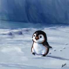 Little penguin walking, Okan Bülbül on ArtStation at https://www.artstation.com/artwork/eoYEX