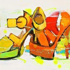 Hautes chaussures - acrylique sur toile - 120x40cm - année 2014