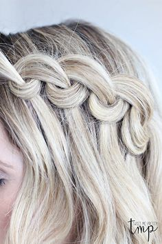 Looped waterfall braid | http://helloglow.co/wpr_post_slide/looped-waterfall-braid/