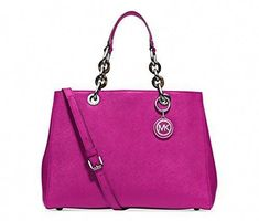 bd1e77f435c3 Michael Kors Cynthia MEDIUM Satchel FUSCHIA     You can find more details  by visiting the image link. (This is an affiliate link) 0