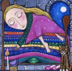 The Princess and The Pea Art Print - Children's Art - Nursery Art - Whimsical Fairytale Print. $20.00, via Etsy.