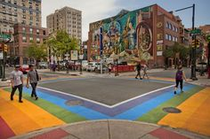 Philly's rainbow crosswalks can be found at the intersection of 13th and Locust streets. (©VisitPhilly.com)