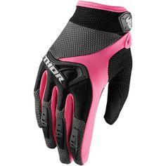 Thor Motocross Women/'s MX ATV Riding Gloves S7W Spectrum Black//Pink Large