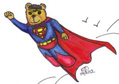 Is it a bird? Is it a plane? No... It is Superbear!!! A Cuddly Hero like no other...